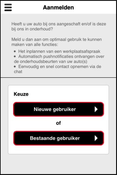 Voertuig registreren Douwe de Beer app